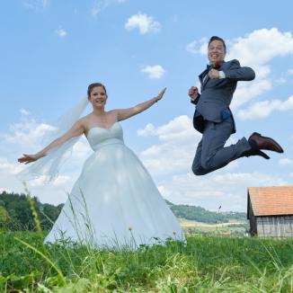 Hochzeitsfotografie für Himmel und Erde.